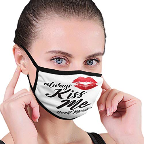 Olive Croft Mouth Cover Outdoor Face Cover for Women Washable and Reusable me Good Morning Typographic Art Printable Poster red Lips Paintings