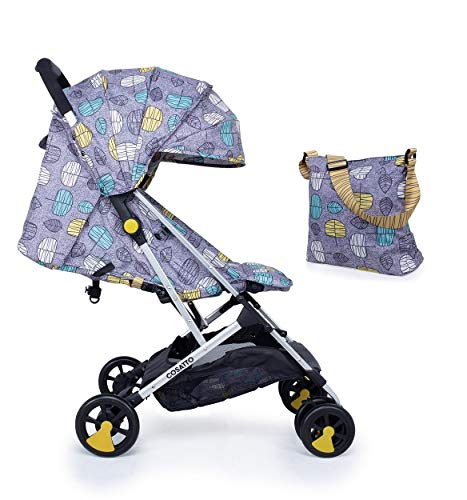 Cosatto Woosh Stroller Teal Dawn Chorus with Change Bag and raincover from Birth to 25kg