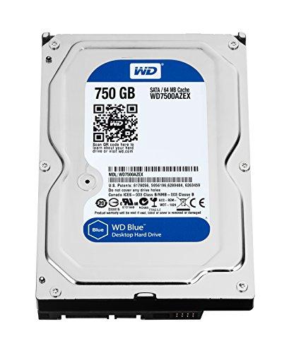 "WD WD7500AZEX Blu Hard Disk Desktop da 750 GB, 7200 RPM, SATA 6 GB/s, 64 MB Cache, 3.5 """