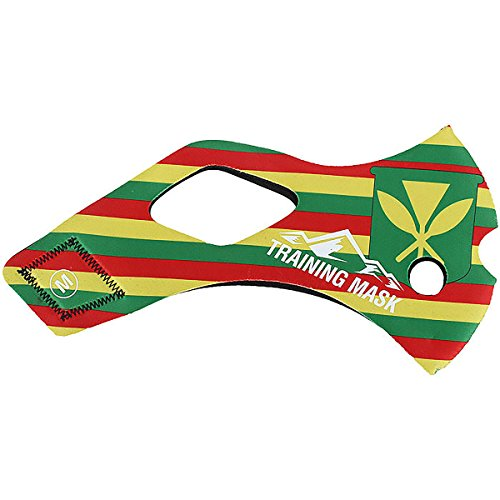 TRAININGMASK Elevation Training Mask 2.0 Hawaii Sleeve Yellow/Green/Red Medium Sleeve ONLY - Not a Complete Mask