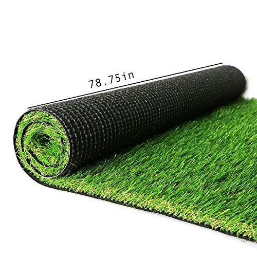 ORAF Artificial Grass Turf Lawn, Indoor Outdoor Garden Turf Grass Landscape Synthetic Grass Mat for Backyard Patio Garden Balcony,Rubber Backing/Drainage Holes, 6.5FT x 13FT (84.5Square FT)