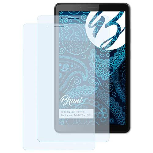 Bruni Schutzfolie kompatibel mit Lenovo Tab M7 2nd GEN Folie, glasklare Displayschutzfolie (2X)