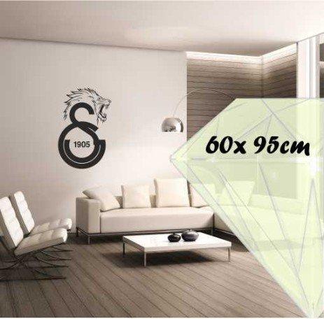 Saphir Design Wandtattoo Galatasaray ASLAN M090 (Schwarz Matt, 60x95cm)