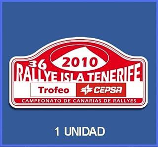 PEGATINAS STICKERS RALLY RALLYE ISLA TENERIFE 2010 DP545 RALLYE AUFKLEBER DECALS AUTOCOLLANTS ADESIVI CAR DECALS RALLY RAL...