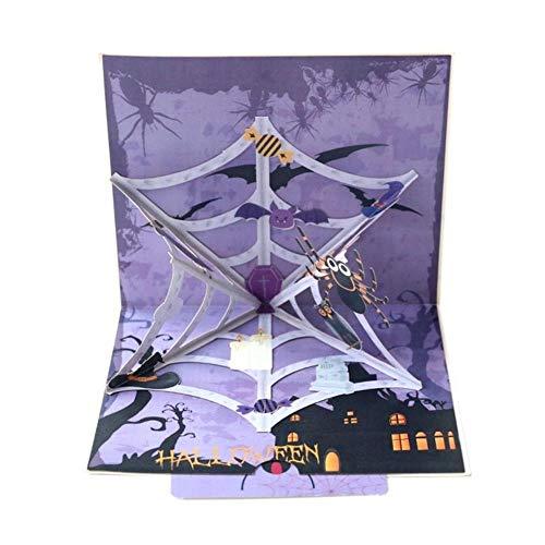 Halloween wenskaart 3D envelop vouwen kaart heks pompoen geest patroon Halloween partij uitnodiging kaarten Festival benodigdheden A