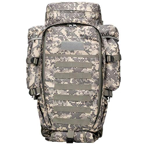 Adlereyire Tactical Backpack Military Grade Waterproof Tear Resistant Material Large Survival Rucksack Multifunction MOLLE Assault Bag for Various Outdoor Sports (Color : B, Size : 30 * 19 * 120cm)