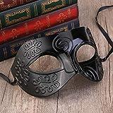 WINOMO Costume romano travestimento maschera nera maschera veneziana uomo donna festa Halloween