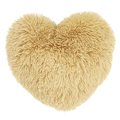 Catherine Lansfield Cuddly Heart 3D Cushion Ochre