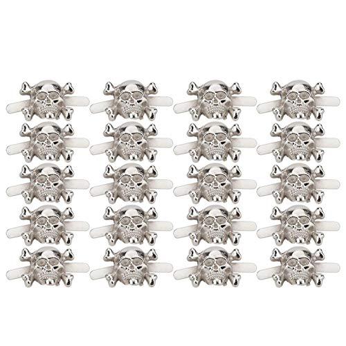 Langlebige robuste Nietbefestigungen Zinklegierung Bolzen Schnelle Nieten Gold Silber Schädelförmige Armbänder Taschen Dekoration Kleidung für(13 * 18mm silver)