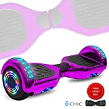 DOC Electric Hoverboard Self-Balancing Hoover Board with Built in Speaker LED Lights Wheels UL2272 Certified...