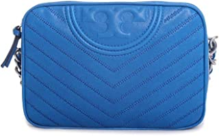 Fleming Distress Leather Camera Bag in Tropical Blue