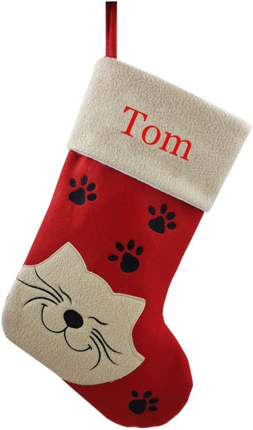 DearSun Pet Christmas Personalized Limited time cheap sale Cat Deluxe Person Stocking