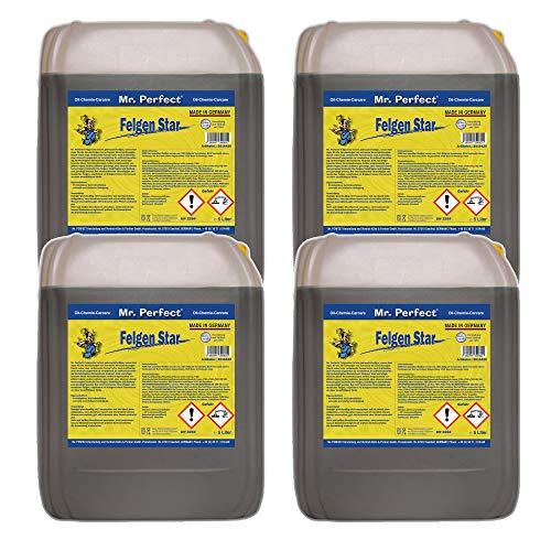 Mr. Perfect Limpiador concentrado para llantas de aluminio y acero, cuidado de llantas ácido, 4 x 5 litros