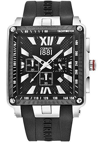 Cerruti 1881 Herren-Armbanduhr Analog Quarz Silikon CRA012E224G