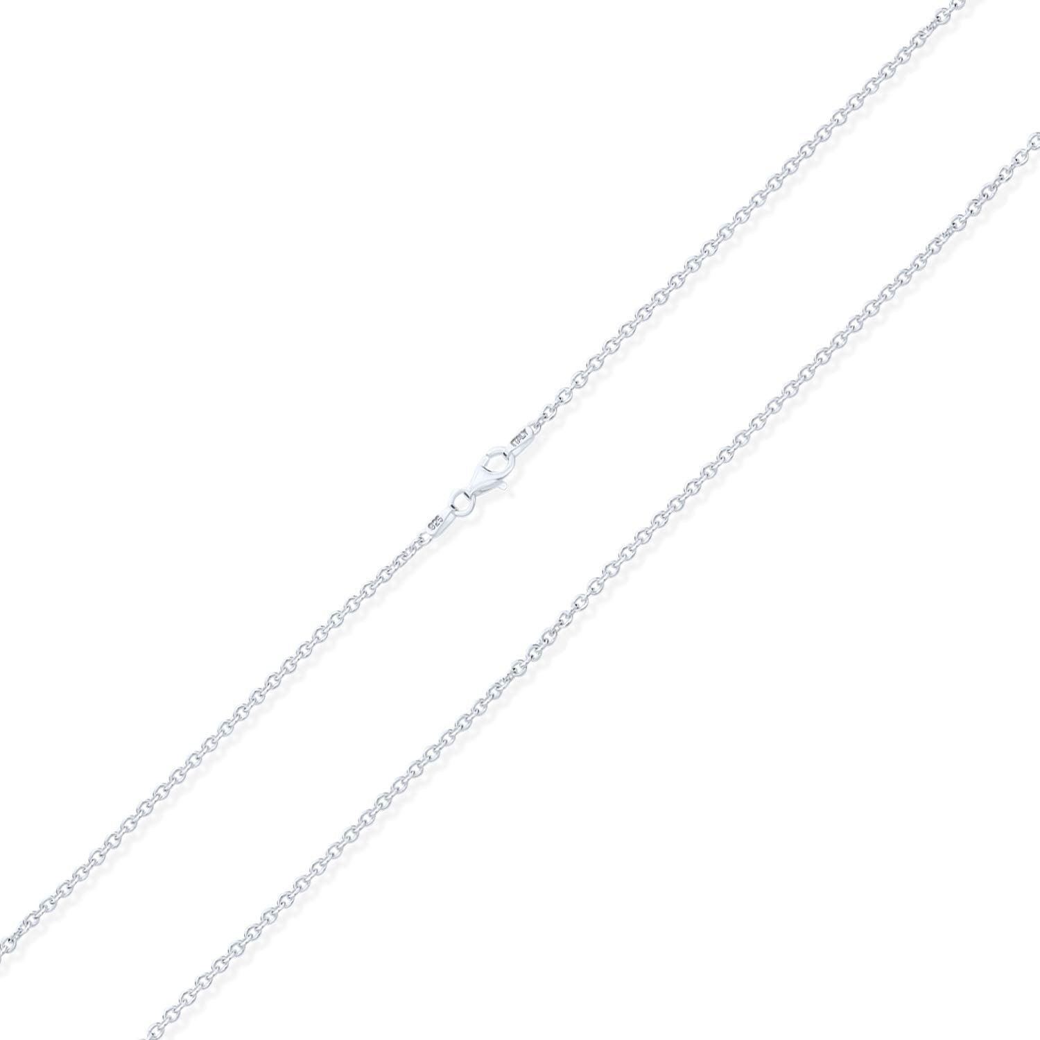 Simple Basic Thin 1 MM 925 Sterling Silver Rolo Cable Chain Neck