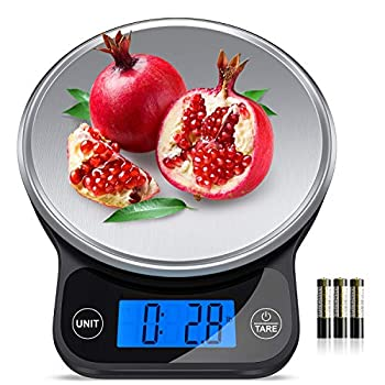 Nicewell Food Scale High Accurate Digital Kitchen Scale with Pastry Mat Scale Measures in Grams and Ounces 6kg 13lbs Max  with Premium Stainless Steel Platform and Large Backlit Display