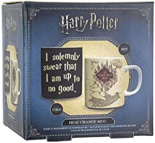 20 oz Silver Buffalo HP1034HB Harry Potter and the Prisoner of Azkaban Marauders Map Heat Reveal Ceramic Mug