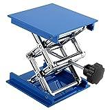 Hubtische Blau Galvanik Aluminium Labor Hebeplattform Ständer Rack Scherenheber 100 x 100mm Labor