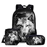 School Bags, Children's Backpacks, 3d Wolf Pattern School School School Bags, Boys And Girls School Bags, Student Bags Z3609ECK