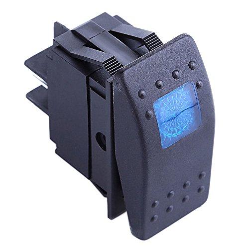E Support™ Interrupteur Commutateur ¨¤ Bascule LED Bleu 4 broches pour Voiture Marine Moto hors route
