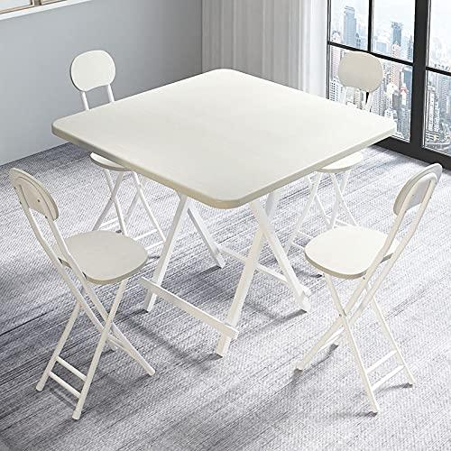 BIANGEY Conjunto de Muebles de jardín Plegable, Mesa de Comedor portátil y...