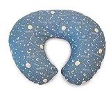 Chicco Boppy - Cuscino per allattamento con rivestimento in cotone, motivo: luna e stelle
