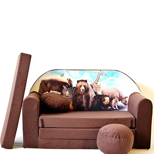 barabike Kindermöbel K8 Enfants Canapé ausklapp Bar Canapé-lit canapé Mini Basse 3 en 1 Ensemble pour bébé + Fauteuil pour Enfant et Coussin d'assise + Matelas
