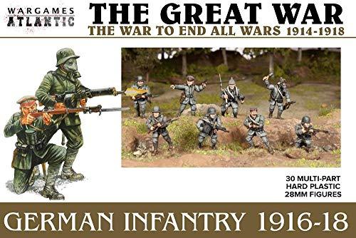 The Great War - German Infantry 1916-18 (30 Figures) Multi-Part Hard Plastic (HIGH Impact POLYSTYRENE) 28MM Figures…