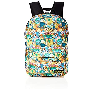 51cPWbPf gL. SS300  - Bioworld POKEMON All-over Characters Print Backpack Mochila tipo casual, 45 cm, 15 liters, Varios colores (Multicolour)