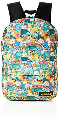 Bioworld POKEMON All-over Characters Print Backpack Zaino Casual, 45 cm, 15 liters, Multicolore (Multicolour)