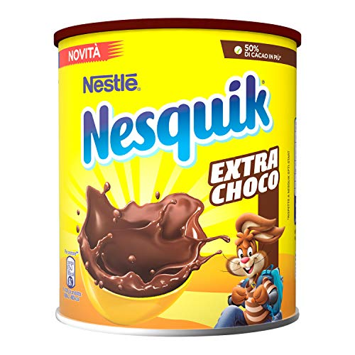 Nesquik Extra Choco Cacao Solubile per Latte Barattolo - 390 gr