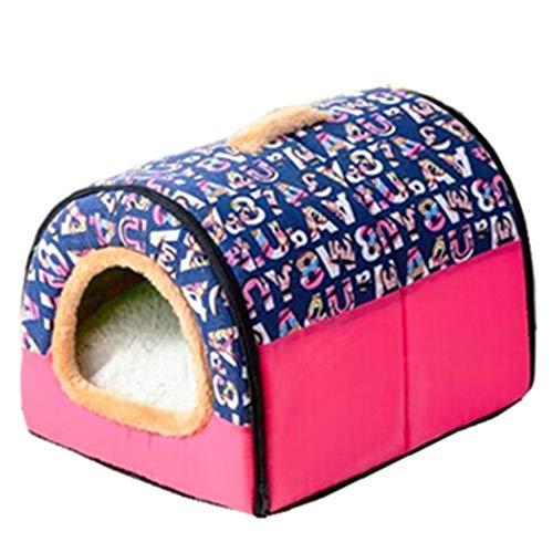 Cesta para Mascotas de Felpa 4 Colores Diferentes y 3 tamaños - Lavable y Resistente a los arañazos casa para los Perros y Gatos (Style 4, XXL)