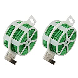 Shintop 2PCS 328 Feet Garden Plant Twist Tie with Cutter for Gardening