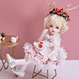 Y&D 1/6 SD Doll 9.96' 25.3Cm Ball Jointed Gift BJD Doll Muñecas de Moda Full Set Ropa Zapatos Calcetines Zapatos Peluca Maquillaje