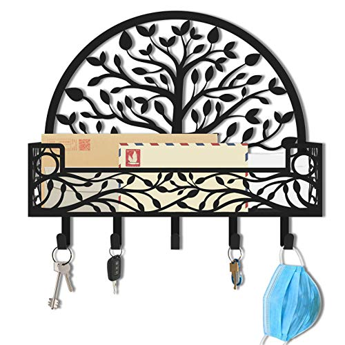 Key Holder for Wall, Mail Holder for Wall, Wall Mounted Mail Holder, Key Holder Mail Organizer, Key Holder for Wall Decorative, Mail Organizer Wall Mount, Mail and Key Holder, Mask Organizer