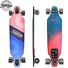 [Exquisite structure] 8 ply Canadian maple and 1 ply fiberglass will provide you a super stable high-speed platform for riders. [Wireless remote control] With wireless remote control ,so it is easy to control. Speed modes are L, M, H and H +. The bra...