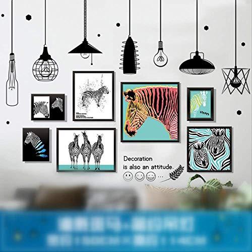 Muursticker voor slaapkamer woonkamer verhuuring zebra kroonluchter muursticker zelfklevend