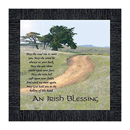 Irish Blessing Wall Decor, May The Road Rise Up to Meet You, Celtic Decor Home Blessing Sign, Irish Gifts for Women. Irish Wall Decor, House Warming Presents for New Home 8586CH