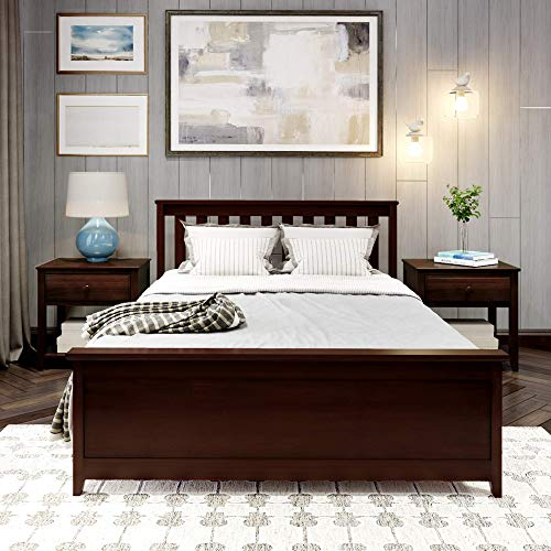 Plank+Beam Traditional Bed, Full, Espresso