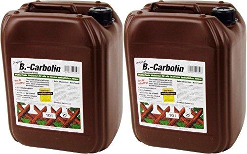 B-Carbolin Holzlasur 10 Liter Zaunfarbe Holzfarbe Zaunlasur Öl Holz Lasur