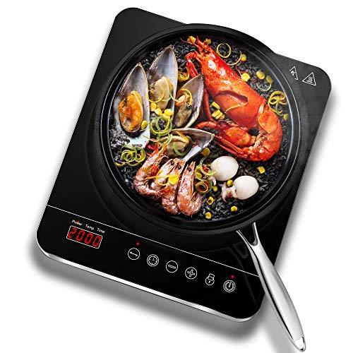 petit un compact Plaque à induction Aobosi, vitrocéramique avec affichage LED, plaque de cuisson numérique,…