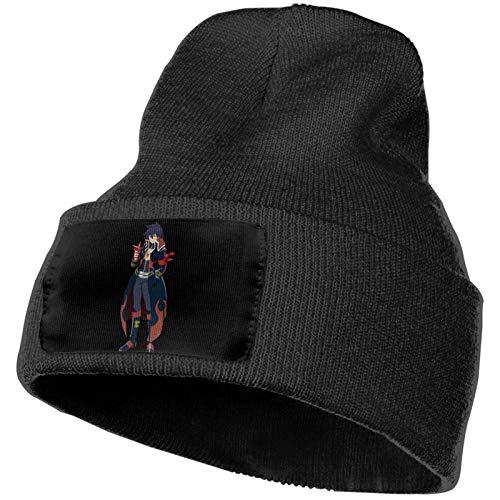 Tengen Toppa Gurren Lagann Fashion Stretch Knitted Wool Hat Unisex Beanie, Suitable for All Seasons Black