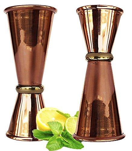 Rastogi Handicrafts Double Jigger Cocktail Shot Glasses 2 Mix Perfect Craft amp Classic Drinks Excellent Set of 2