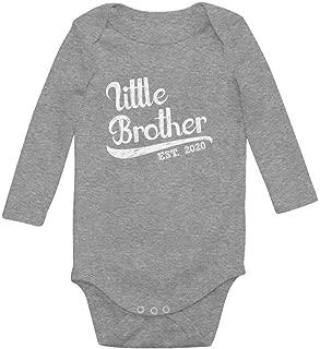 Tstars Little Brother 2020 Baby Shower Gift for Baby Boy Baby Long Sleeve Bodysuit
