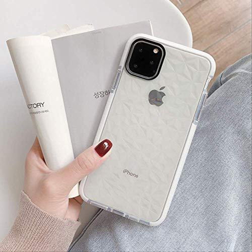 Funda para teléfono con Marco de Parachoques a Prueba de Golpes para iPhone 12 11Pro MAX XR X XS MAX 8 7 6 6S Plus Cubierta Trasera de protección Suave y Transparente para iPhone 11 Blanco