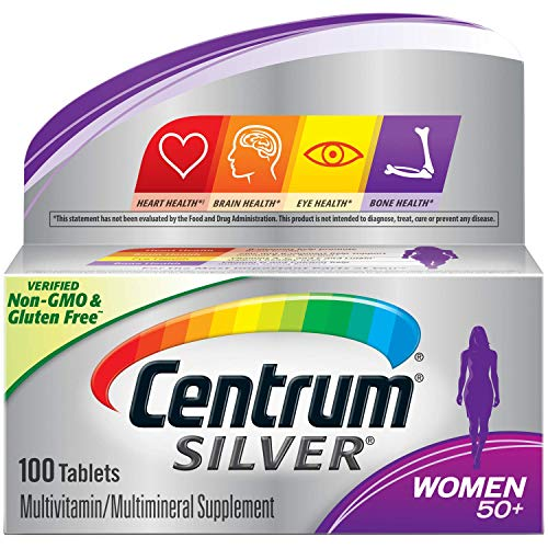 Centrum Silver Women 50+ Multivitamin/Multimineral Supplement 100 Tablets