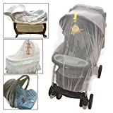 Croc n frog Mosquito Net for Baby Stroller, Crib, Pack and Play, Bassinet, Playpen | Mosquiteros para Cunas De Bebes | Large, Elastic, and Breathable