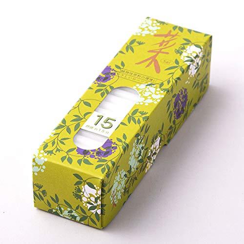 ハセガワ仏壇 植物ロウソク カメヤマ [菜15] (クリオ) 約120本 15分