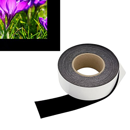 2 in x 30 ft - Vibrancy Enhancing Projector Felt Tape Border - by ConClarity – Deepest Black Ultra High Contrast Felt Tape for DIY Projector Screen Borders Absorbs Light, Brightens Image & Stops Bleed