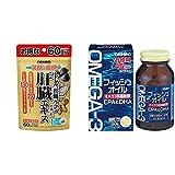 【セット買い】オリヒロ しじみ牡蠣 ウコンの入った肝臓エキス 120粒 & フィッシュオイル